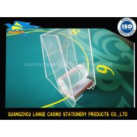 Wholesale Transparent Casino Accessories Playing Card Holder / Acrylic Card Box from china suppliers