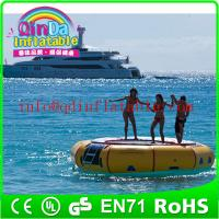 Wholesale Amusement inflatable water play equipment floating trampoline orbit water trampoline from china suppliers