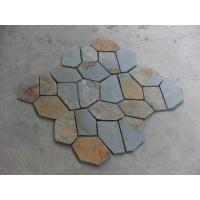 Wholesale Multicolor Slate Flagstone Patio Stones/Wall Cladding Natural Slate Flagstone Pavers/Walkway from china suppliers