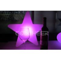 Quality Christma Multil color led table lights Star Shape , battery powered led light table for sale