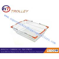 Wholesale Custom Handling Carry Steel Metal Supermarket Shopping Basket 20 Liter from china suppliers