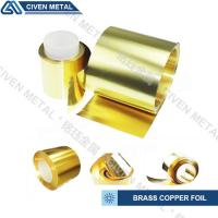 Wholesale Industrial Shiny Golden Yellow Brass Copper Foil For Stamping / Die - Cutting from china suppliers