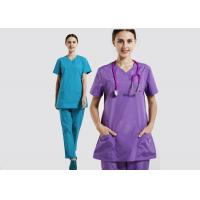 Hospital Female Scrubs Medical Uniforms , Ventilate Cotton Pretty Scrubs For for sale