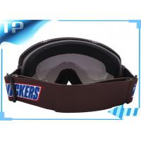 China Brown Racing Clear Lens Customized Womens Ski Goggles Anti - Scratch on sale