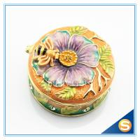 Quality Butterfly Ring Box Metal Trinket Box Jewelry Boxes for sale