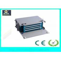 Wholesale 48 Port Rack Mount Fiber Optic Distribution Box 19 Rack Mount Easy Close / Open from china suppliers