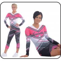 Wholesale Comfortable Blue Cheerleading Sportswear Machine Washable from china suppliers