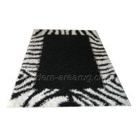 Wholesale Custom Hand-tufted Modern Floor Rugs, Black And White Polyester Shaggy Rug from china suppliers