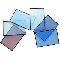 Buy cheap Ocean Blue 8mm 10mm Coated Glass, Solar Reflective Glass Curtain Wall For Building from wholesalers