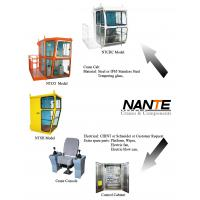 Wholesale White / Red Overhead Crane Cabin With Adjustable Seat / Joystick from china suppliers