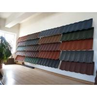 Wholesale Ultraviolet Resistant Color stone coated metal roofing tiles 1300mm * 420mm from china suppliers
