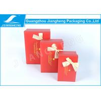Wholesale Handmade Rigid Cardboard Gift Boxes Packaging Hot Stamping With Ribbon Bowknot from china suppliers