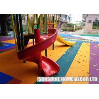 Wholesale Multi-colored Designs Playground Safety Surfacing With Easy Snap Together 12 x 12 Inch from china suppliers