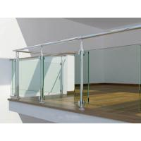 Wholesale Tempered Glass Railing Systems , Railings With Glass Panels from china suppliers