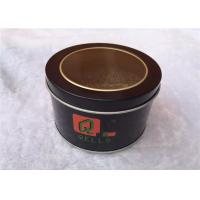 Wholesale Circle Metal Tin Box Storage For Cookies , Tin Cylinder Container Eco Friendly from china suppliers