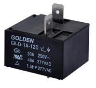 Wholesale 2 Pin 9V 12V 24V 40A Miniature DC Power Relay GK-D JQX-105F-1 from china suppliers