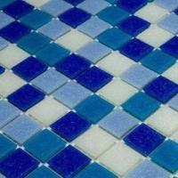 Wholesale Blue Mix Wall Tiles, Pool Tiles, Bathroom Tiles, Chip Sized 20 x 20mm from china suppliers