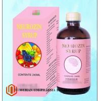 Wholesale Brown Liquid Neurozin Syrup Oral Suspension Medicine Syrup 240ml / Bottle / Box from china suppliers