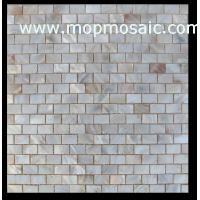 Wholesale Natural freshwater shell mosaic backing on mesh from china suppliers