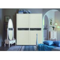 Wholesale Blum Hinges Double Wardrobe Sliding Doors Fitted Bedroom , Free Standing Sliding Wardrobes  from china suppliers