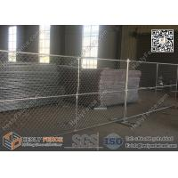 "Wholesale 8 'x 10 ' hot dipped galvanized chain link temporary construction fence panels 2⅜""x2⅜ 60mm x 60mm mesh x 2.7mm diameter from china suppliers"