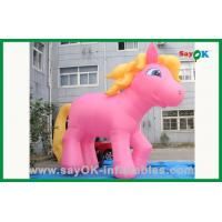 Wholesale Custom Pink Horse With Yellow Tail Inflatable Cartoon Characters from china suppliers