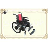 Wholesale Electric and Hand-actuated Hub Motor Wheelchair with Foldable Aluminum Alloy Frame from china suppliers