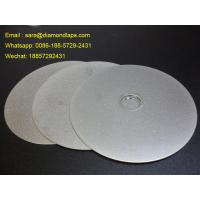 "Wholesale 6"" Grit 400 Diamond Flat Lap Disc with electroplated grinding surface for lapidary from china suppliers"
