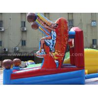 Wholesale Basketball Shooting Inflatable Sports Games With Hoop , Hand Printing from china suppliers