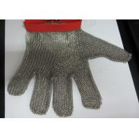 Wholesale M Size Red Stainless Steel Gloves For Cutting , Chain Mail Gloves Anti Wear from china suppliers