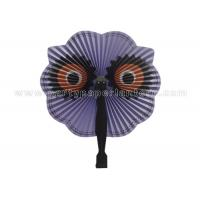 Wholesale Cute Big Eyes Printed Accordion Paper Folding Fans Amusing for Souvenir gift from china suppliers