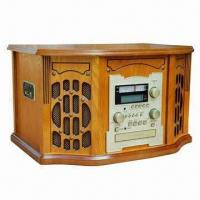China Nostalgic Wooden Music Center with CD Recording Function and 32W Power Consumption on sale