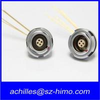 Quality ECG.0B.304 7 pin lemo right angle connector 90 degree pcb pin for sale