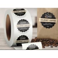 Wholesale Custom Logo Self Adhesive Labels , Custom Roll Label Stickers For Food Coffee Package from china suppliers