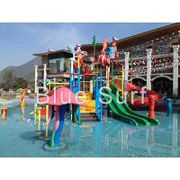 Wholesale Red / Green Children Water Playground Equipment Spray Fiberglass Water Slide from china suppliers