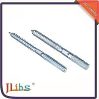 Wholesale M6 M8 Zinc Plated Steel Hanger Bolts , Double Threaded Wood Screws from china suppliers