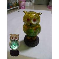 Wholesale Poly Resin Owl Solar Garden Light from china suppliers
