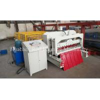 Quality Thickness 0.3 - 0.6mm Metal Glazed Tile Cold Roll Forming Machine With CE Safe Cover for sale