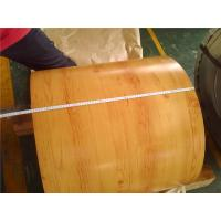 Wholesale Wood Grain Prepainted Galvanized Steel Coil , Exterior Painted Steel Coil from china suppliers