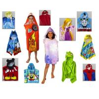 Wholesale Hooded Cotton Beach Towels Reactive Printed For Kids With Cute Shape from china suppliers