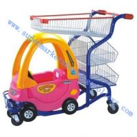 Wholesale Supermarket Toddler Boy Kids Plastic Shopping Cart Intersting and Colourful from china suppliers