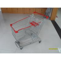 Buy cheap 125L Supermarket Shopping Trolley With 4 Swivel Flat Casters 941x562x1001mm from wholesalers