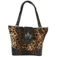 Wholesale leopard pattern western shoulder bags for women cowgirl fashion from china suppliers