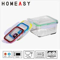 Wholesale High Borosilicate Pyrex Glass Lunch Container / Square Glass Containers from china suppliers