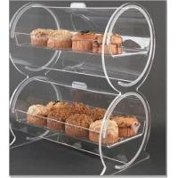 "Wholesale Double Drum Acrylic Bakery Display Case Container 18"" x 12"" x 22"" from china suppliers"