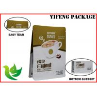 Wholesale Coffee Bean Plastic Stand Up Pouches , Oil Proof Side Gusset Packaging Bag from china suppliers