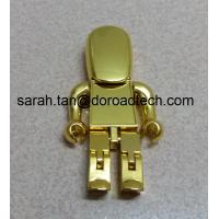 Wholesale High Quality Metal Gold Robot USB Flash Drive, Gift USB Drives with Laser Printing Logo from china suppliers