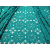 China Beautiful Green Cotton Nylon Lace Fabric Mesh Eco friendly CE SGS SYD-0008 on sale