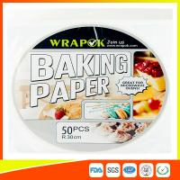 Wholesale Round Silicone Baking Paper Sheets , Greaseproof Non Stick Paper For Baking from china suppliers