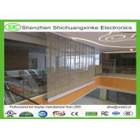 Wholesale P12 Flexible Curved led transparent display Screen with 90% transparency from china suppliers